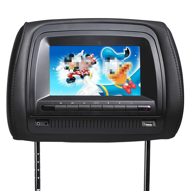 2016 New High-grade 7 inch HD touch screen Car Headrest Monitor MP5+DVD player with USB/SD/IR/FM transmitter Support 32Bit Game(China (Mainland))