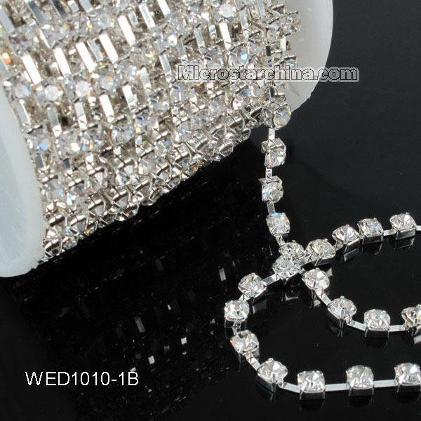 5yard Wedding Favor Diamante Banding Rhinestone Chain Decoration Cake ribbon Trimming SS16 Bling Rhinestone Garment Accessories(China (Mainland))