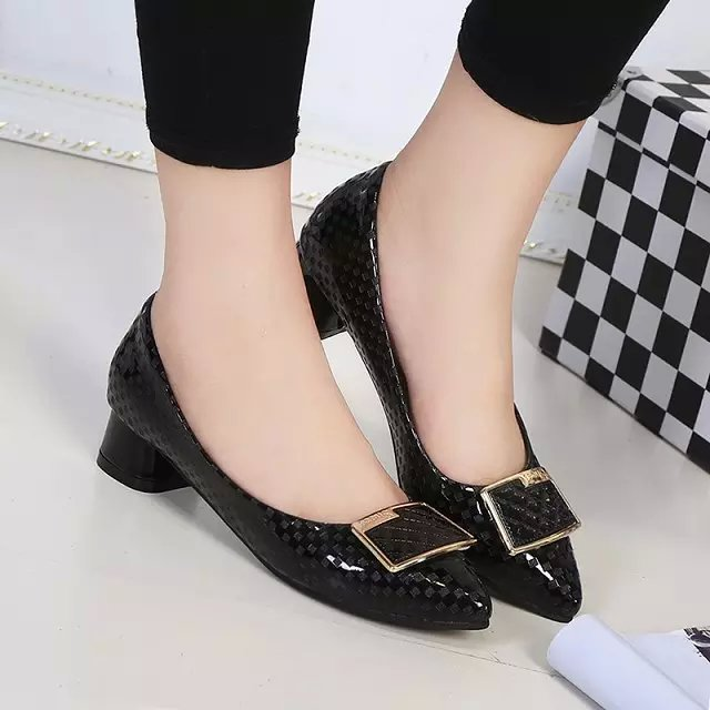 HONEY 2016 spring autumn pointed toe low heels shoes women pumps with charm #688<br><br>Aliexpress