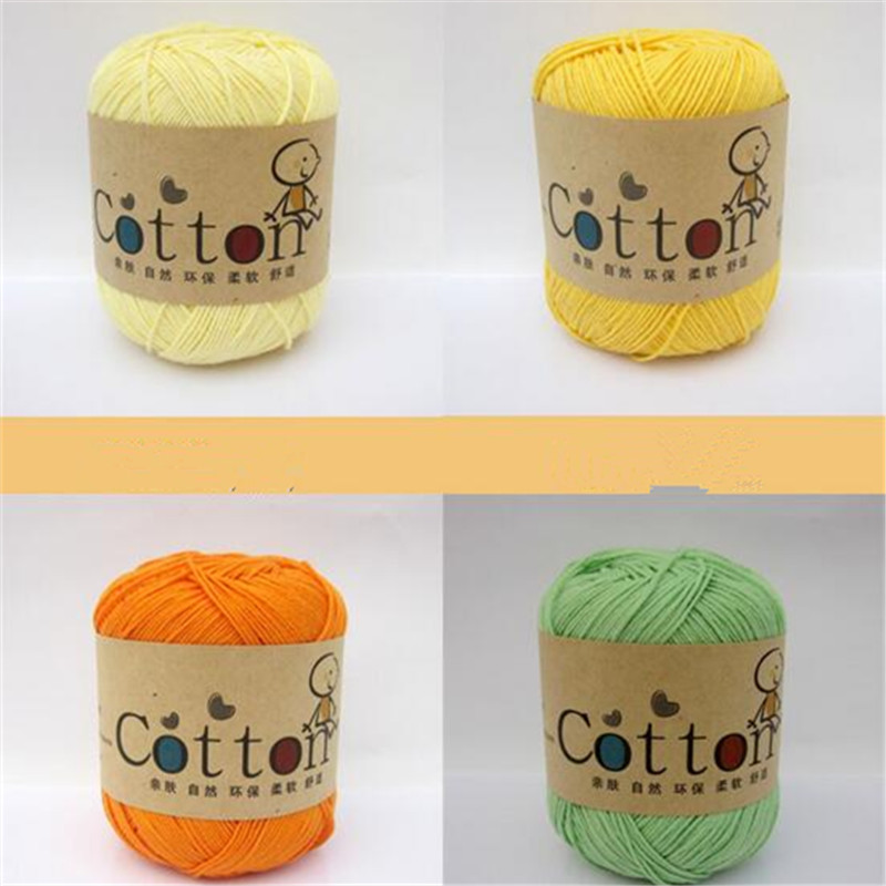 10Balls(0.5kg) Milk Cotton Yarn Soft Skin for Kids Ecofriendly Dyed Baby Yarn for Knitting S335(China (Mainland))