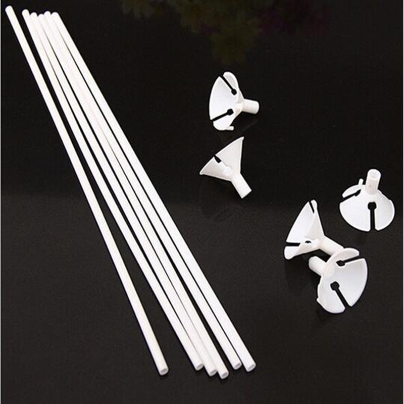 100sets/lot 32cm latex Balloon Stick white PVC rods for Supplies Balloons Holder Sticks with cup party decoration accessories(China (Mainland))
