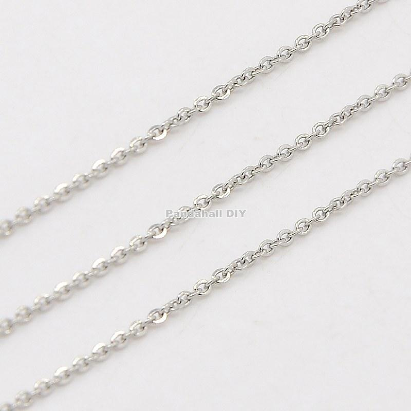 316 Stainless Steel Cross Chains Decorative Rolo Chains Jewelry Findings Stainless Steel Color, 1.5x1.5mm(China (Mainland))