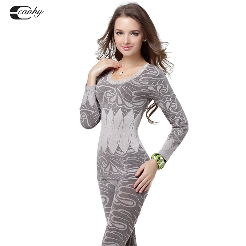 Гаджет  2014 new slimming thermo thermal velvet underwear vest lingeries womens thermal underwear set long john woman -printed None Одежда и аксессуары
