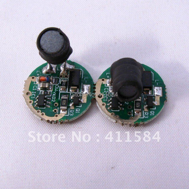 2pcs/lot 3.7-8.4V 1200MA CREE LED light 1-5W  5-mode Circuit Board for CREE XR-E XP-E XP-G2 LED 17MM torch driver