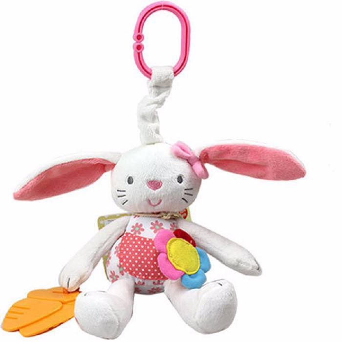 Baby Rattles Ring Bell Baby Boy Girl Toy Plush Rabbit Crib Bed Hanging Animal Dolls Newborn Teether Infant Doll Babies Stroller(China (Mainland))