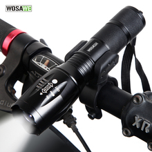 Buy WOSAWE New Bicycle Light 1000 Lumens 5 Mode T6 LED Bike Light Front Torch Waterproof + Torch Holder Support 18650 Battery for $7.99 in AliExpress store