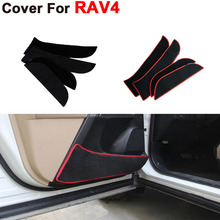 Car Styling Door Protecter Side Edge Protection Mat For Toyota RAV4 2013 2014 2015 Anti-kick Pad Automobiles Free Shipping(China (Mainland))