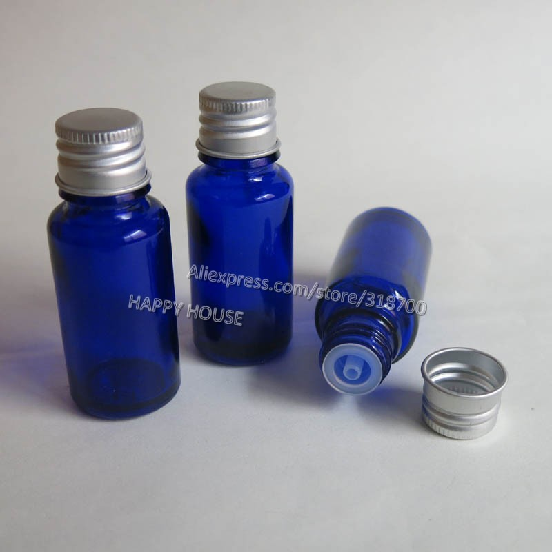 Free shipping -  360  x 15ml Blue Glass Essential Oil Container with Aluminum lids,1/2oz Cobalt Blue Glass Bottle<br><br>Aliexpress