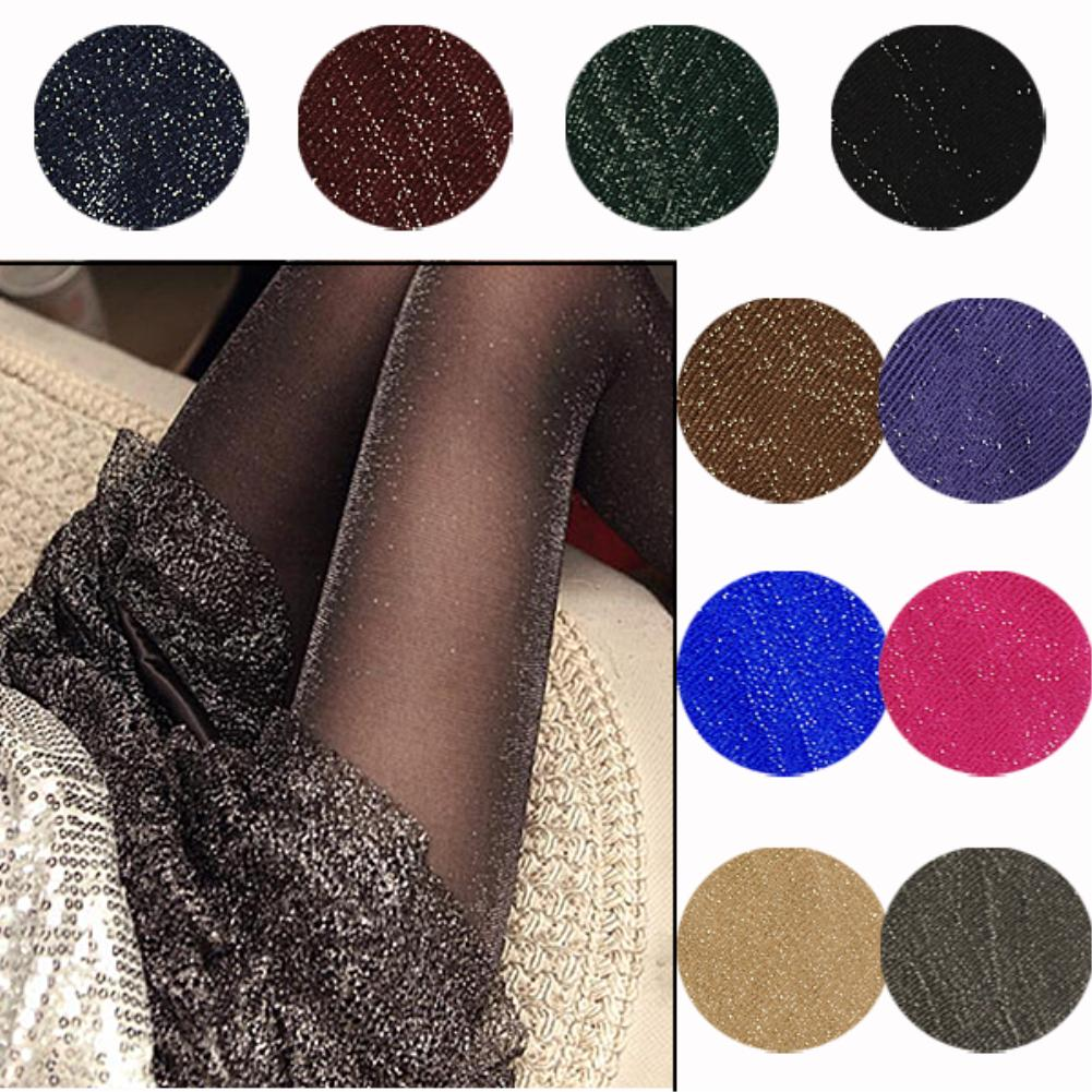 1 Pair New Arrival Sparkling Fashion Sheer Shimmer Tights Stockings Sparkle Pantyhose Shiny Glitter Women Lady Sexy Hot Sales(China (Mainland))