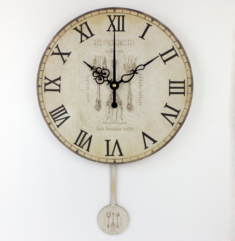 Kitchen Large Decorative Wall Clock Absolutely Silent Home