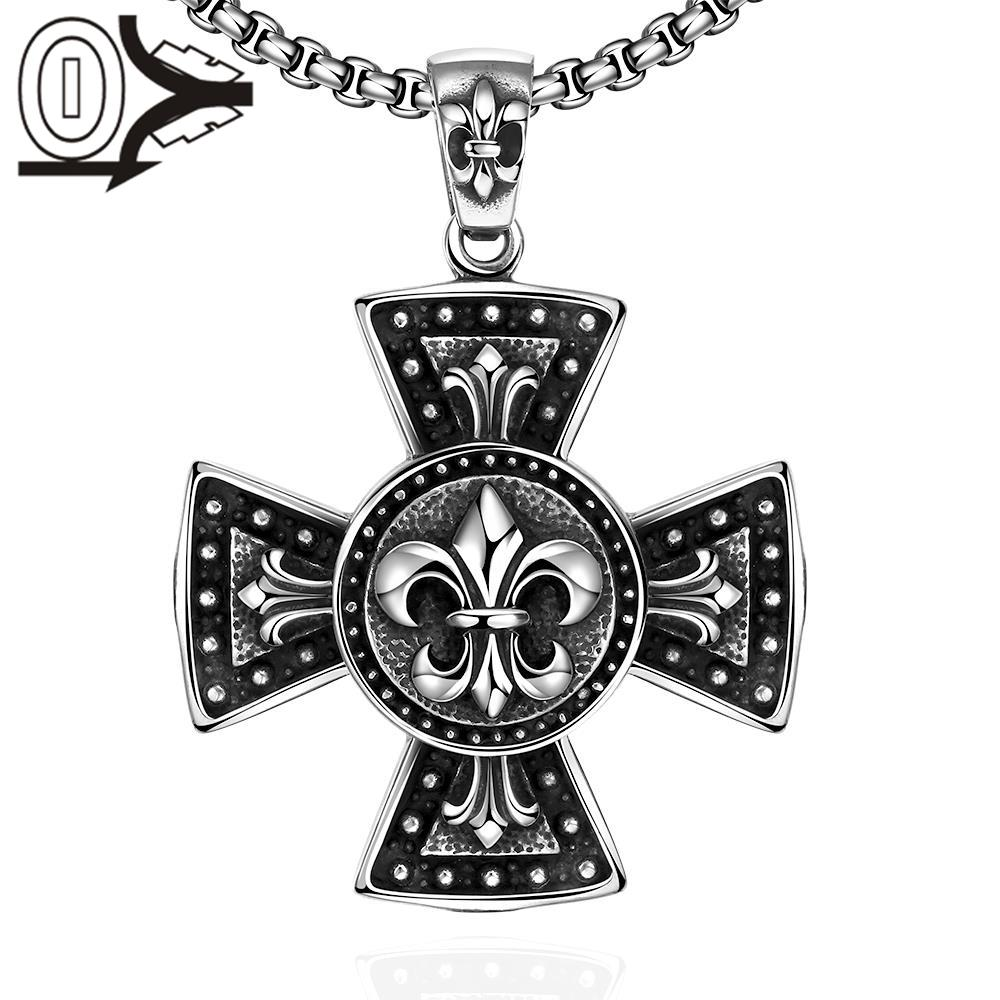 N035 Titanium fashion chain free 316L stainless steel vintage pendant necklace For Men Vintage Punk Bike Style Male Necklaces(China (Mainland))