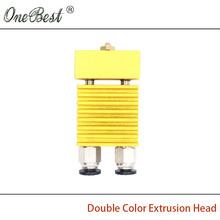 2016 Latest 3D Printer Accessories E3D Single Head Mixed Color Extruder Nozzle Hot End heat sink