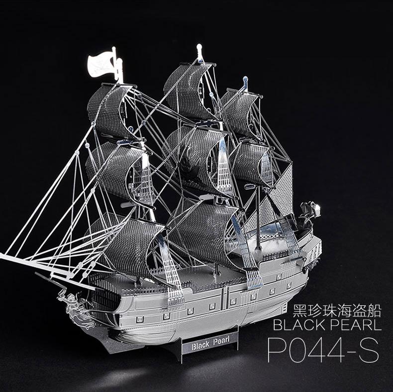 Pandamodel@Chinese Metal Earth 3D Metal model kits 9 inch Pirates of the Caribbean Black Pearl 2 Sheets Military Puzzles DIY(China (Mainland))
