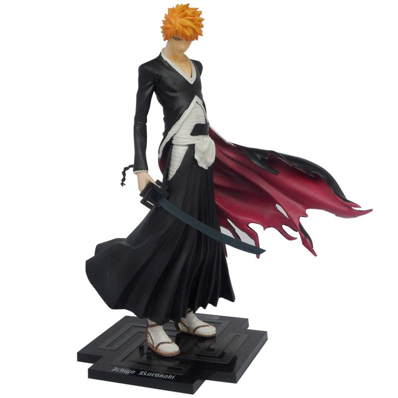 Free shipping 20cm Japan Anime Bleach Figure Toy Kurosaki Ichigo PVC Action figures toys GK lock Zangetsu Collection Model(China (Mainland))