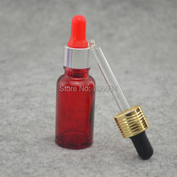 Essential Oil Glass Bottle30ml Red Frosted Glass Bottle with Dropper Glass Dropper Bottles glass bottle 30 ml E liquid Bottle(China (Mainland))