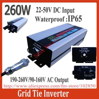 IP65  22-50V DC grid tie solar power inverter,260W Grid Tie Micro Inverter,Ultra Lightweight,CE