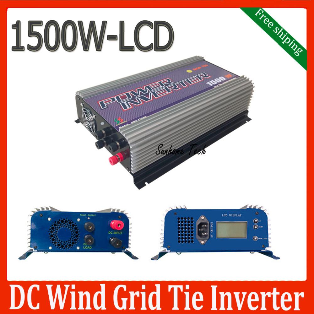 1500W wind turbine grid tie inverter with dump load,45-90V DC wind turbine one grid inverter free shipping(China (Mainland))
