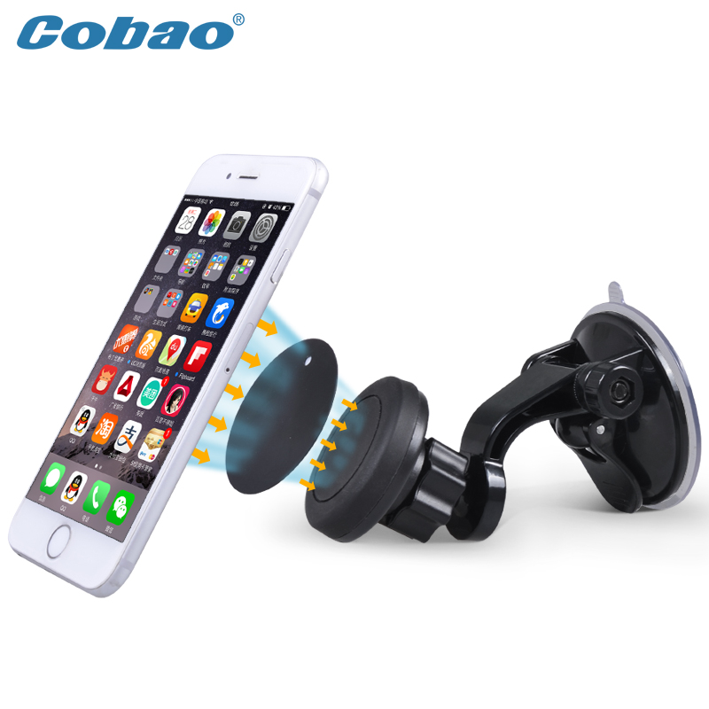 Universal magnetic car windshield mount holder for the phone holder for the car support for iphone 6 6s plus samsung S4 S5 S6(China (Mainland))