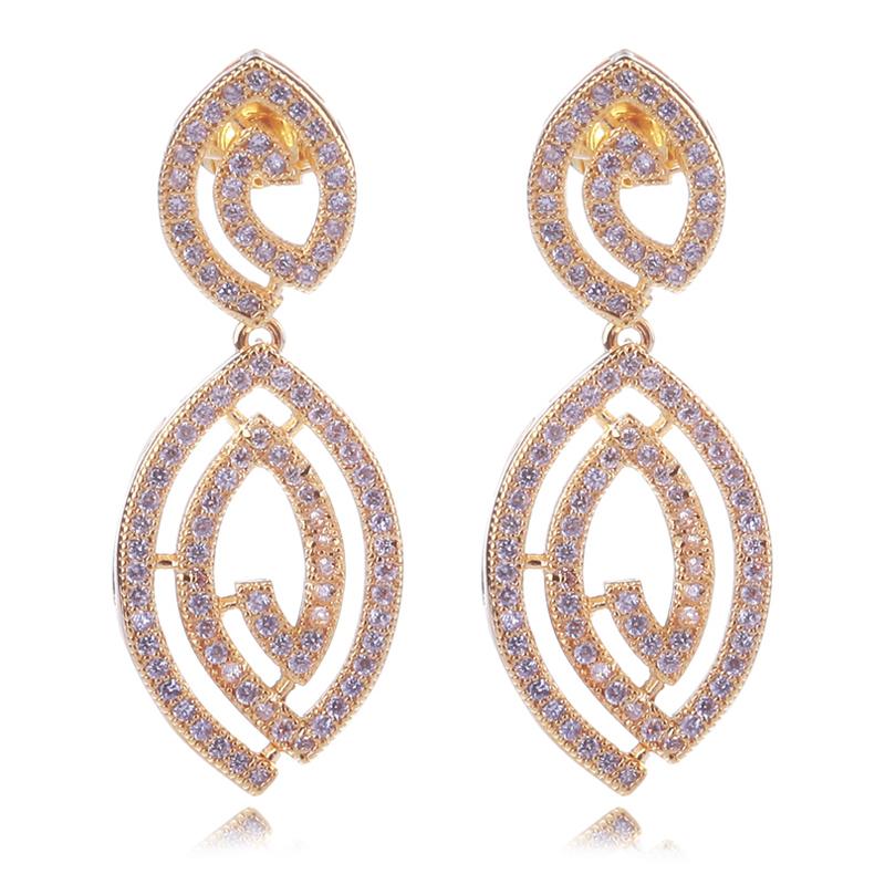 Love Deluxe Earrings-Fashion earrings AAA zirconia crystal 18k gold & Platinum plated Luxury mermaid wedding jewellery Free ship(China (Mainland))
