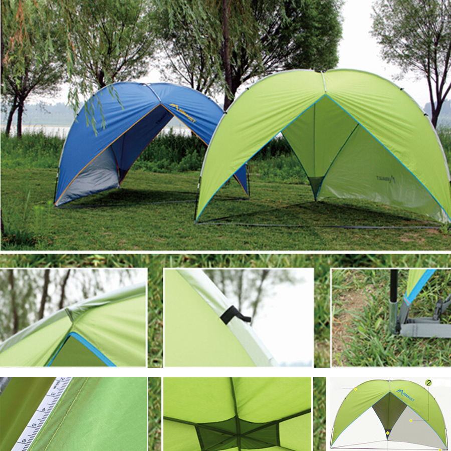 Outdoor Large Camping Tent Canopy UV Protection 4 - 8 Person Garden BBQ Party Hiking Beach Tent Sun Shelter(China (Mainland))