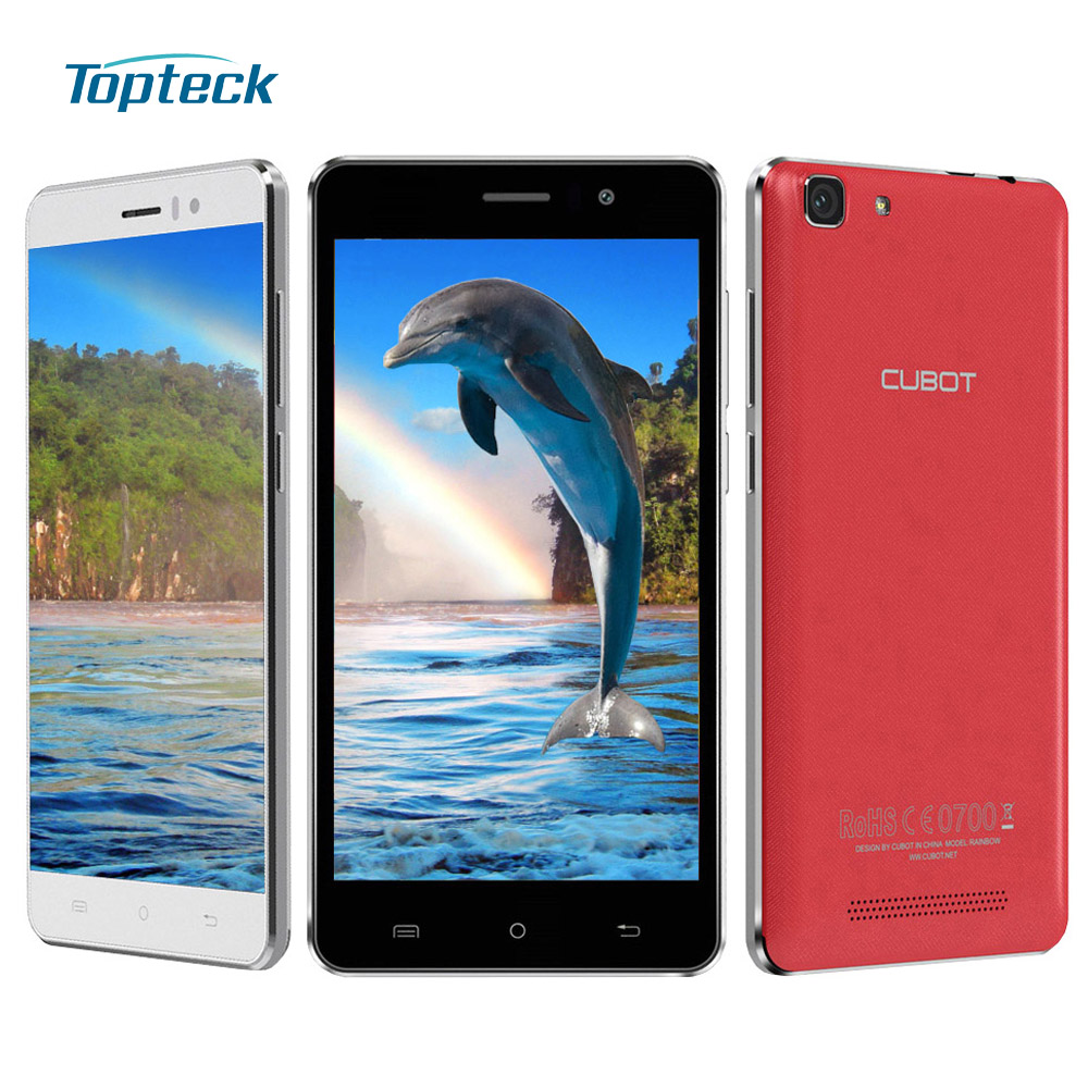"""Cubot Rainbow 5.0"""" HD IPS Android 6.0 Quad Core MTK6580 1.3GHz Mobile Phone 1GB+16GB 13MP Cellphone 2200mAh OTG 3G Smartphone(China (Mainland))"""