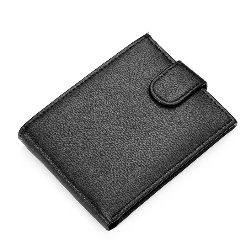 Hot Sale fashion new Fine quality men genuine leather wallet coin pocket black brown colors purse