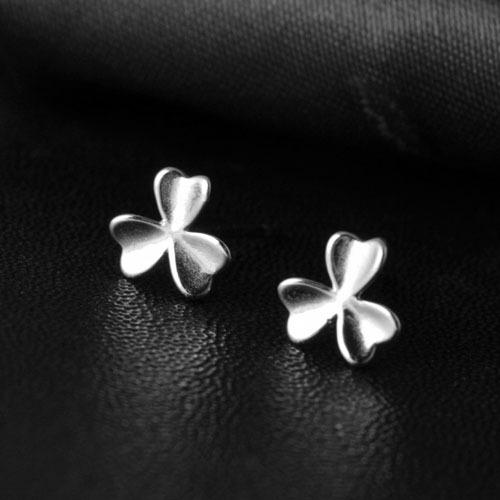 925 sterling silver earring summer style romance Clover 925 sterling silver stud earrings for women best Gifts for you love