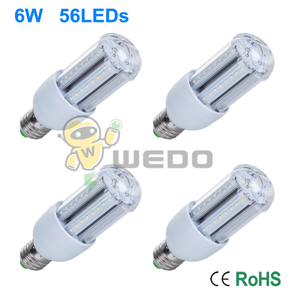 4 PCS 6W/10W/14W LED 3014 SMD Energy Saving Aluminum Ultra Bright Corn Light E27 Non-Dimmable Cool White/Warm White 85-265V<br><br>Aliexpress