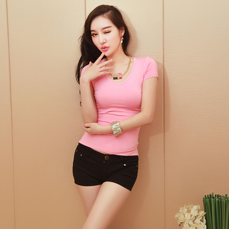 Low Neckline Shirts Neckline Low Collar Solid