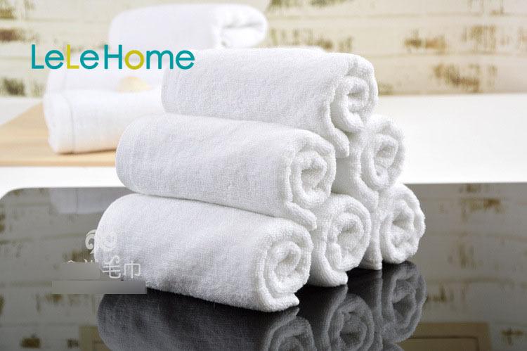 White cotton towel hotel suppliers big size 35*75cm thick 120g 4pcs/lot 35*75cm spa salon towel Free Shipping(China (Mainland))