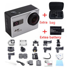 F68 Wifi Voice Features Camera 4K Ultra HD 2 inch Sport Camcorders Mini Waterproof Sports HD DV+Exter Bag+battery free shiping
