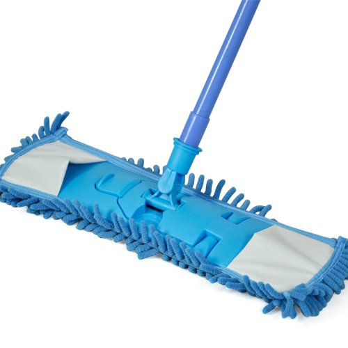 Practical Smallwise Trading Extendable Microfibre Mop Kitchen Noodle Mop Vinyl Wood Floor Cleaner (Blue)(China (Mainland))