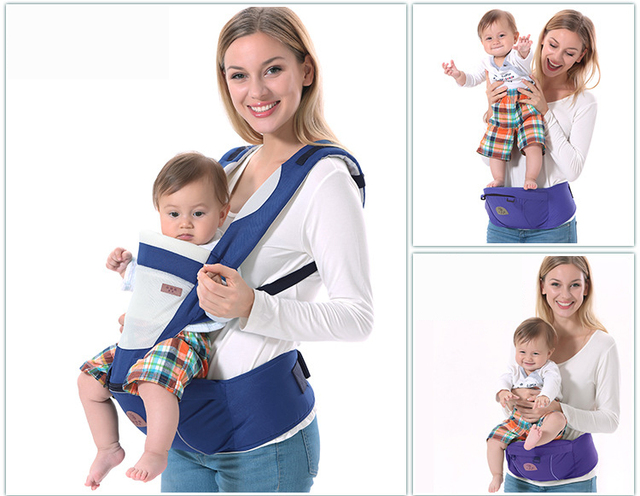 Breathable baby carrier sling with cotton hoody