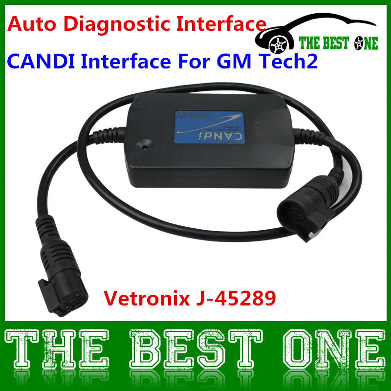 High Quality Tech2 Candi Module Auto Diagnostic Tool CANdi Interface Adaper Tech 2 Vetronix J-45289 Excellent Live Test(China (Mainland))