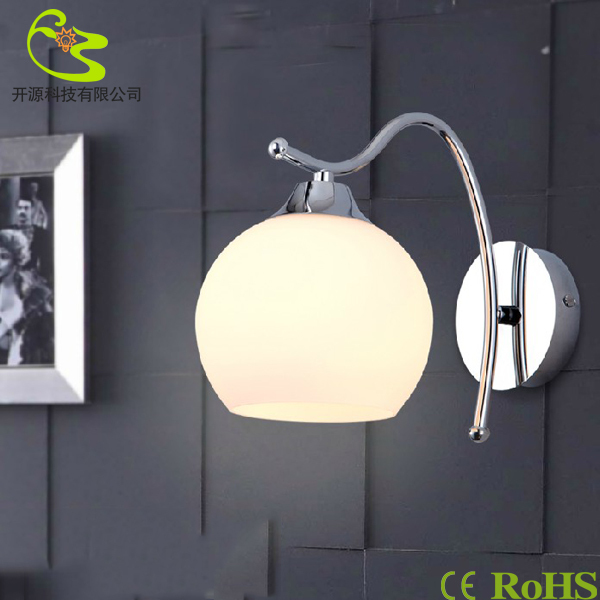 Фотография Fashion modern led wall lamps living room bedside corridor balcony lights e27 led bulb warm white&white glass lamp Free shipping