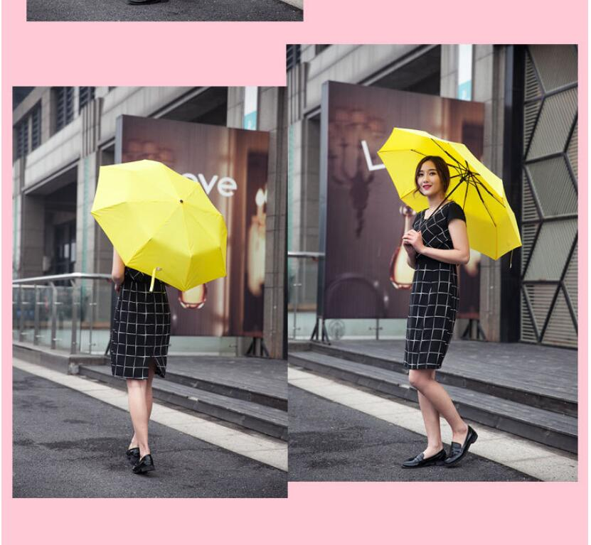 Promotion Personality Rain Umbrella 2016 Brand Unisex Fancy Design UV Proof Brand Cartoon Umbrella Paraguas Amarillo(China (Mainland))