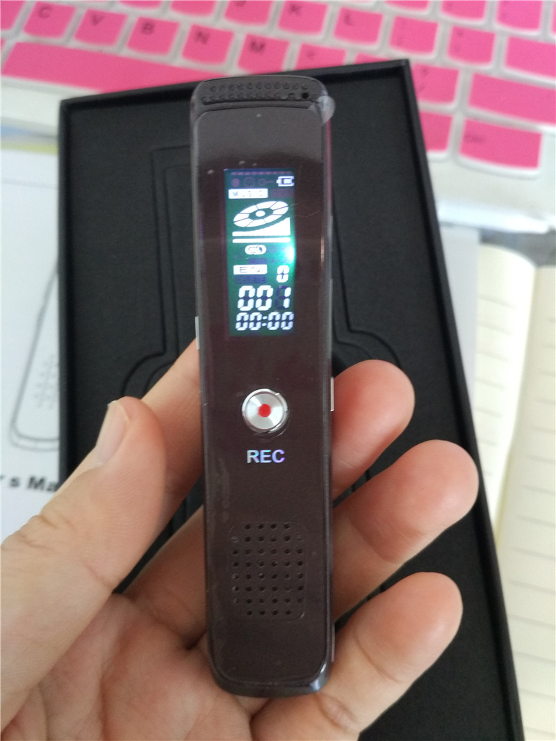 2 pcs/lot sound recorder 8G digital voice recorder pen recorder record player Free shipping LCD screen Voice Recorder(China (Mainland))