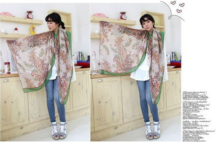2015 Sunsreen scarf joker fields and gardens floral scarf large scarf women winter warm scarves pashmina