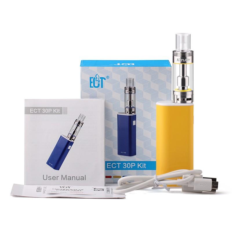 ถูก ใหม่บุหรี่อิเล็กทรอนิกส์ECTกล่องเดิมพอควรeT 30จุด30วัตต์มินิตัดหมอกการควบคุมการไหลของอากาศVaporizer 2200มิลลิแอมป์ชั่วโมงแบตเตอรี่E-บุหรี่
