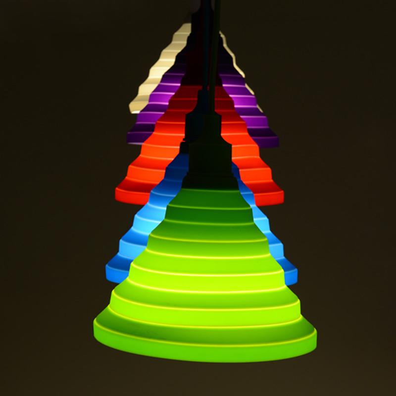 Pendant lights Led E27 colorful lamparas led colgantes pendente de teto Silicone lustre rope Pendant lamp suspension luminaire(China (Mainland))
