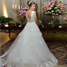 Buy Ball Gown Lace Wedding Dresses Tulle Backless Handmade Weding Wedding Gowns Bridal Bride Dresses Weddingdress vestido de noiva for $159.30 in AliExpress store