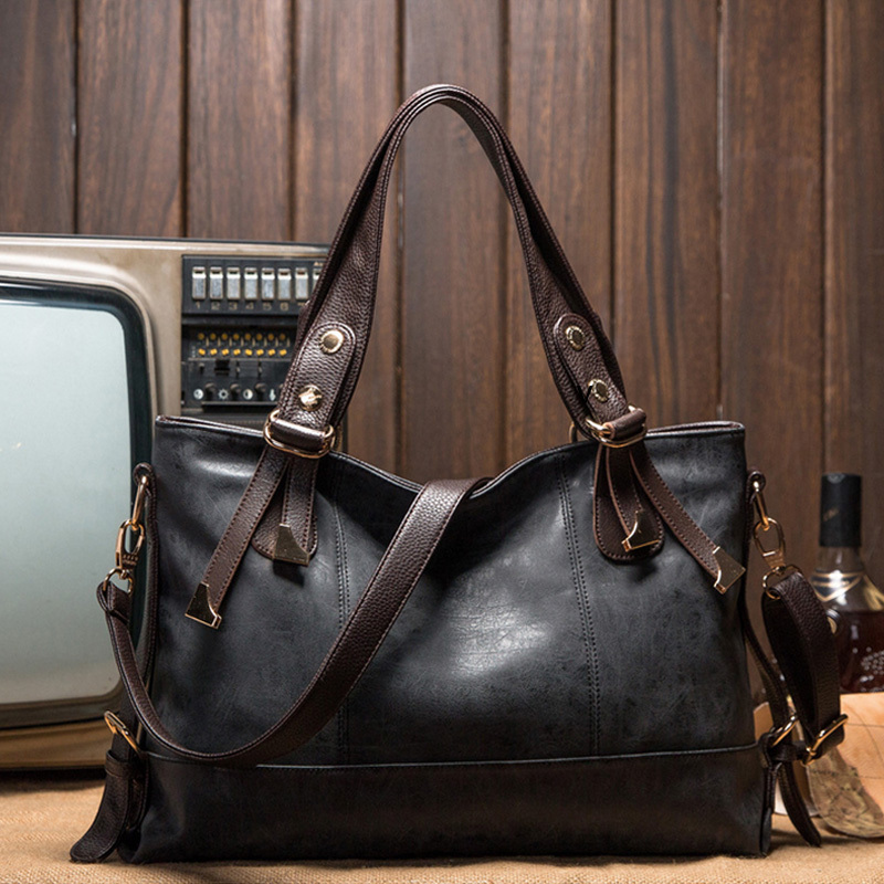 The new 2015 leather handbag designer handbags Oil the fashion leisure shoulder bag bag women messenger bag killer package O1016(China (Mainland))