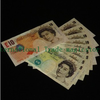 Free shipping International Trade Pound note Flash paper 40pcs/Lot close-up street stage Magic Accessories(China (Mainland))