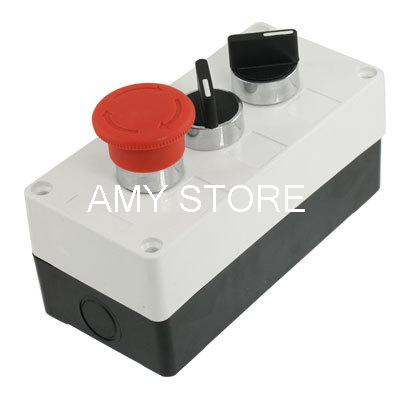 Rotary Selector Emergency Stop Push Button Switch Station Box AC 240V 400V<br><br>Aliexpress