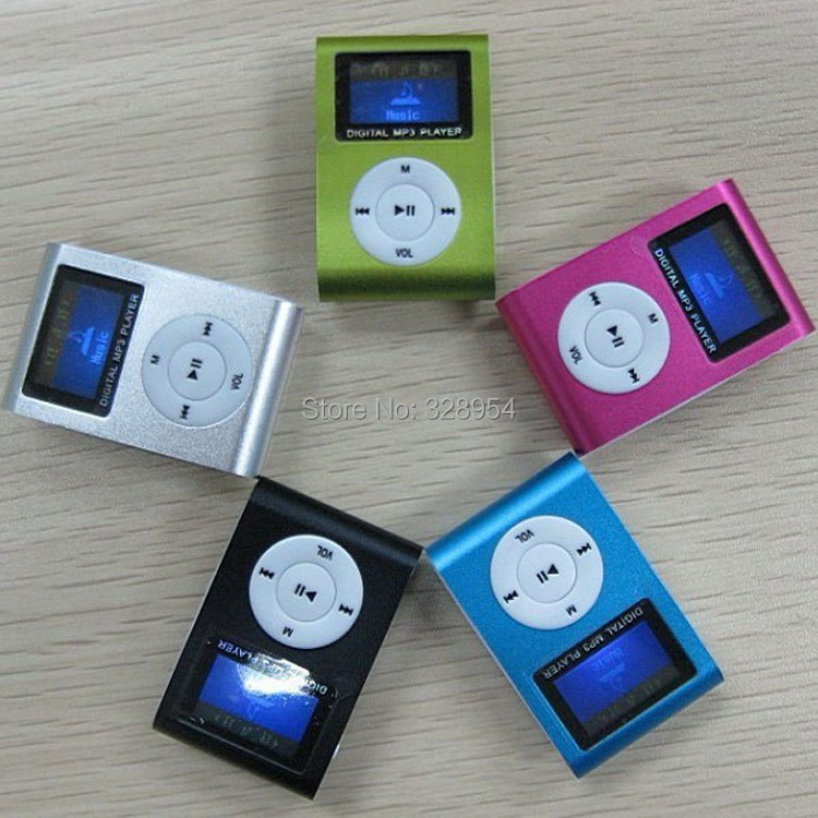Mini Clip Design Digital LED Light Flash MP3 Music Player With TF Card Slot 5 Colors