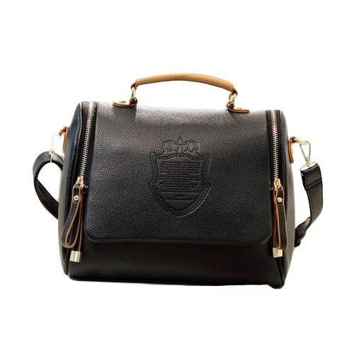 2015 Women Messenger Bags Imperial Crown Pricnt Crossbod Bag Pu Leather Ladies Handbags Vintage Women Shoulder Bags(China (Mainland))