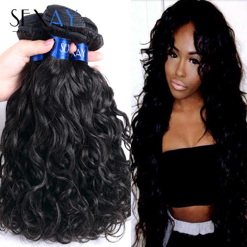 6A Unprocessed Wet And Wavy Natural Wave Human Hair Weave Virgin Malaysian Hair Water Wave Malaysian Virgin Hair Ocean Wave 4Pcs