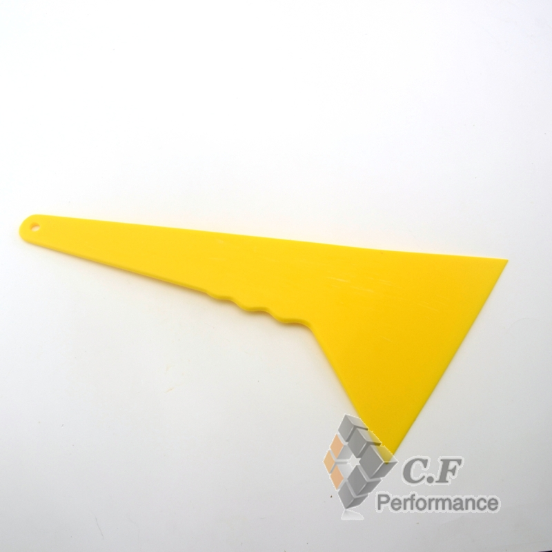 1PC Big Yellow ABS Scraper Tool Sheet Sticker Bubble Scraper Tool Car Applicator Tool Fit PRO CEED Carens Forte Optima Cadenza(China (Mainland))