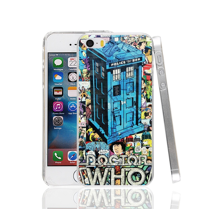23309 London Old police call box Cover cell phone Case for iPhone 4 4S 5 5S SE 5C 6 6S 7 Plus(China (Mainland))