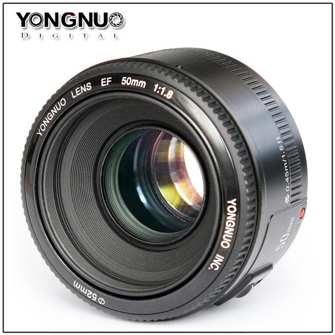 Yongnuo Lens EF 50mm F/1.8 F1.8 Auto Focus + Manual Focus Standard Prime Lens AF / MF for Canon Rebel Digital Camera(China (Mainland))